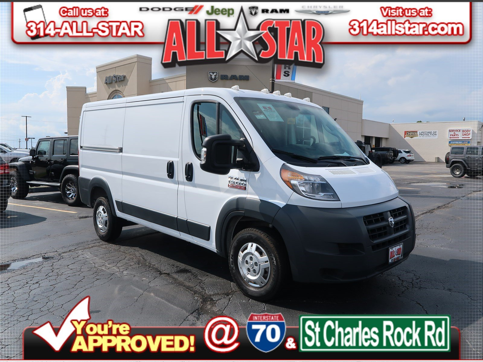 81ad6727c1e4eb Pre-Owned 2018 Ram ProMaster Cargo Van 1500 Low Roof 136 WB Full ...